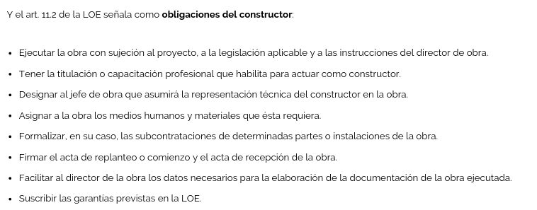 conoce cuáles son las obligaciones del constructor