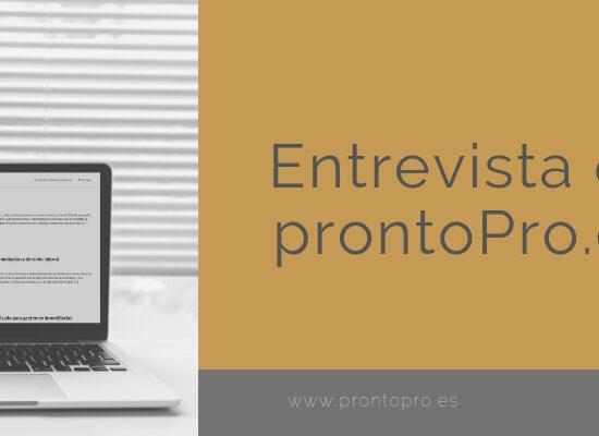 entrevista de ProntoPro.es sobre Inur Abogados